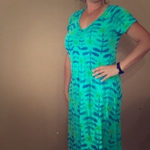 Teal and blue summer fun dress!
